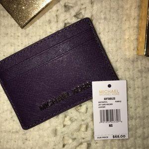 NWT Purple Michael Kors Credit Card Holder